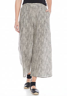 Eileen Fisher Crop Woven Wide Leg Pants