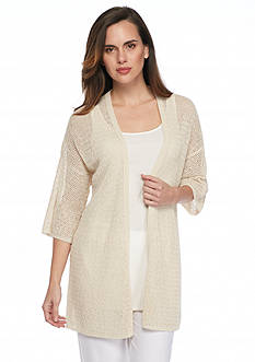 Eileen Fisher Three Quarter Sleeve Cardigan