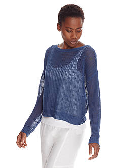 Eileen Fisher Open Stitch Pull Over Sweater