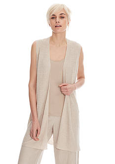 Eileen Fisher Straight Knit Long Vest