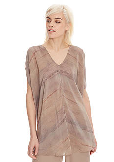 Eileen Fisher V-Neck Wedge Tunic Top
