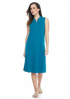 Eileen Fisher Stand Collar Knit Dress