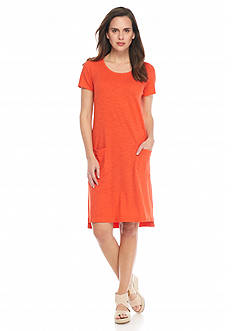 Eileen Fisher Scoopneck Short Dress