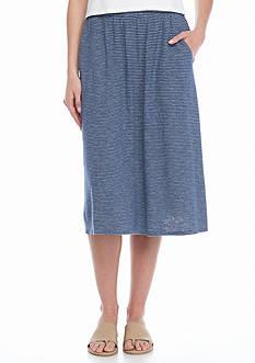 Eileen Fisher Skinny Stripe Knit Skirt