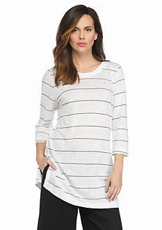 Eileen Fisher Tissue Stripe Tunic Top