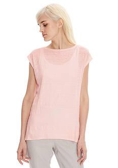Eileen Fisher Knit Cap Sleeve Top