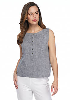 Eileen Fisher Button Front Shell