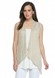 Eileen Fisher Cascading Open Stitch Vest