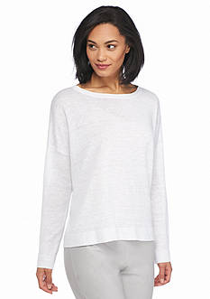 Eileen Fisher Bateau Neck Pullover Sweater