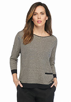 Eileen Fisher Tiny Stripe Pullover Sweater