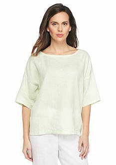 Eileen Fisher Boat Neckline Boxy Top