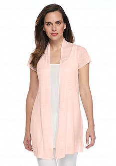 Eileen Fisher Cap Sleeve Cardigan