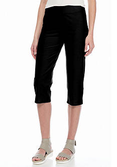 Eileen Fisher Slim Stretch Knit Capri Pants