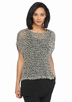Eileen Fisher Open Stitch Boxy Top