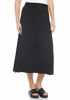 Eileen Fisher Solid Knit Flare Skirt