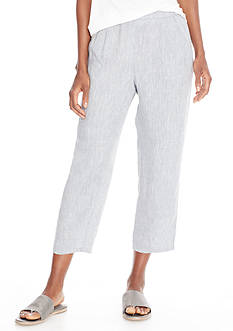 Eileen Fisher Chambray Cropped Pant