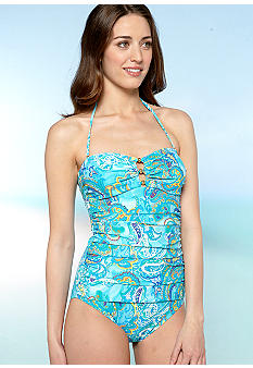Lauren Ralph Lauren Seaside Paisley Bandeau Mio One Piece