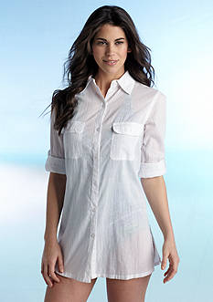 Lauren Ralph Lauren Camp Shirt Cover Up