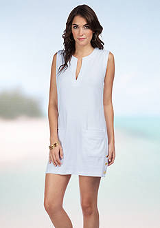 Lauren Ralph Lauren Button Solids Tunic Cover Up