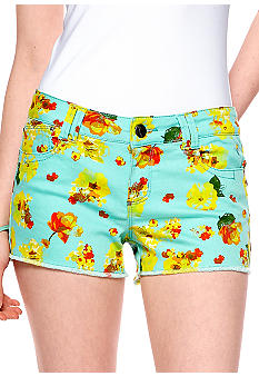 Grane Ivana Five Pocket Fray Hem Printed Short