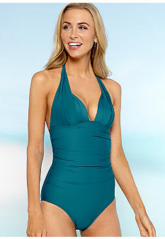 DKNY Halter One Piece Swim Suit