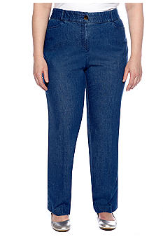 Kim Rogers Plus Size Shannon Denim Pant Average Inseam