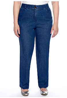 Kim Rogers Plus Size Shannon Denim Pant Short Inseam