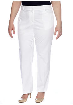 Kim Rogers Plus Size Shannon Twill Pant Average Length