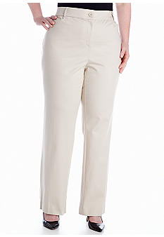 Kim Rogers® Plus Size Shannon Twill Pant Average Length