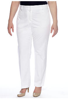 Kim Rogers Plus Size Shannon Twill Pant Short Length