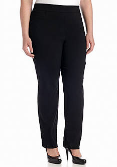 Kim Rogers Plus Size Solid Dress Pant