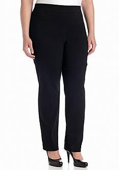 Kim Rogers Plus Size Solid Dress Pant