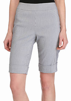 Kim Rogers Striped Super Stretch Bermuda Shorts