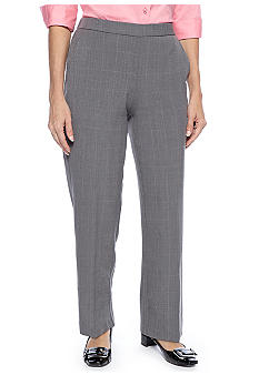 Kim Rogers Petite Plaid Pull On Short Pant