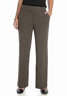 Kim Rogers Shannon Fashion Brown Plaid Pants