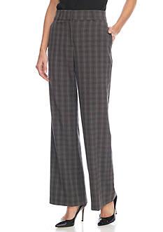 Kim Rogers Flash Gray Plaid Pants
