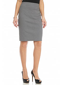 Kim Rogers Slimming Printed Pencil Skirt