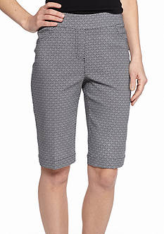 Kim Rogers Printed Super Stretch Bermuda Shorts