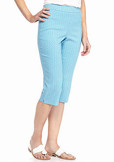 Kim Rogers Printed Super Stretch Crop Capris