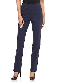 Kim Rogers Patterned Stretchy Pull-On Pants