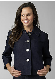 Kim Rogers® Stretch Denim Swing Jacket - Belk.com