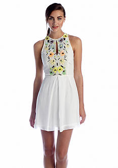 French Connection Summer Lilli Floral Sequined Dress
