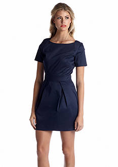 French Connection Paintcheck Rich Short-Sleeve Dress