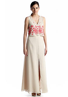 French Connection Fast Quinnie Sleeveless Sequined Long Dress