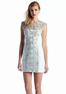 French Connection Fast Encrusted Lace Dress