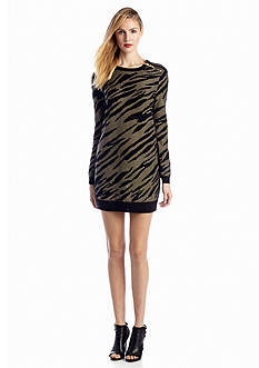 French Connection Siberian Tiger Print Knit Dress