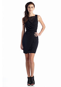 French Connection Mona Crepe Drape Dress
