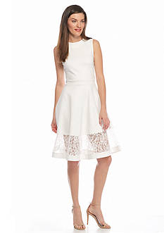 French Connection Beau Lace Trim Dress