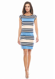 French Connection Multi Stripe Knit Dress