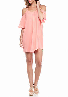 French Connection Polly Plains Cold Shoulder Dress
